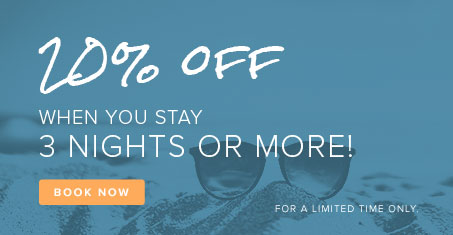 20% OFF When you stay 3 nights or more